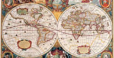 poster mapa antiguo