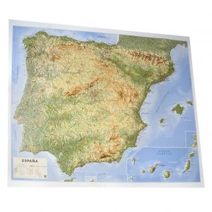 Mapa relieve España Portugal Peninsula Iberica